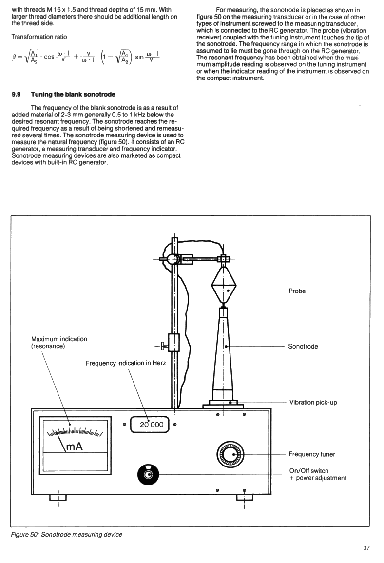 ZVEI Handbook on Sonotrode design and manufacturing instructions - Page 37. Sonotrode tuning